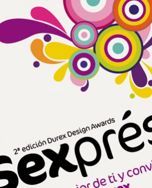 "Poster for the 2nd edition of the Durex Design Awards ""Sexpress yourself""