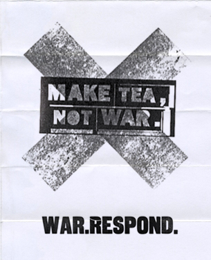 Personal project for the collective show against the invasion of Iraq, under the theme WAR.RESPOND. Royal Colleg of Art, London - Proyecto personal para exposición colectiva contra la invasión de Irak, bajo el lema WAR.RESPOND. Royal College of Art, Londres